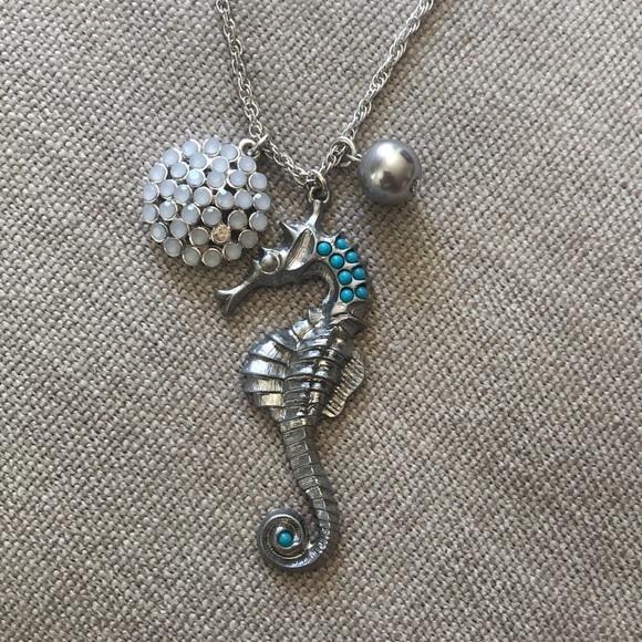 Banana Republic seahorse silver necklaces ⚓️